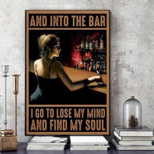 Into the bar Bartender vertical poster art