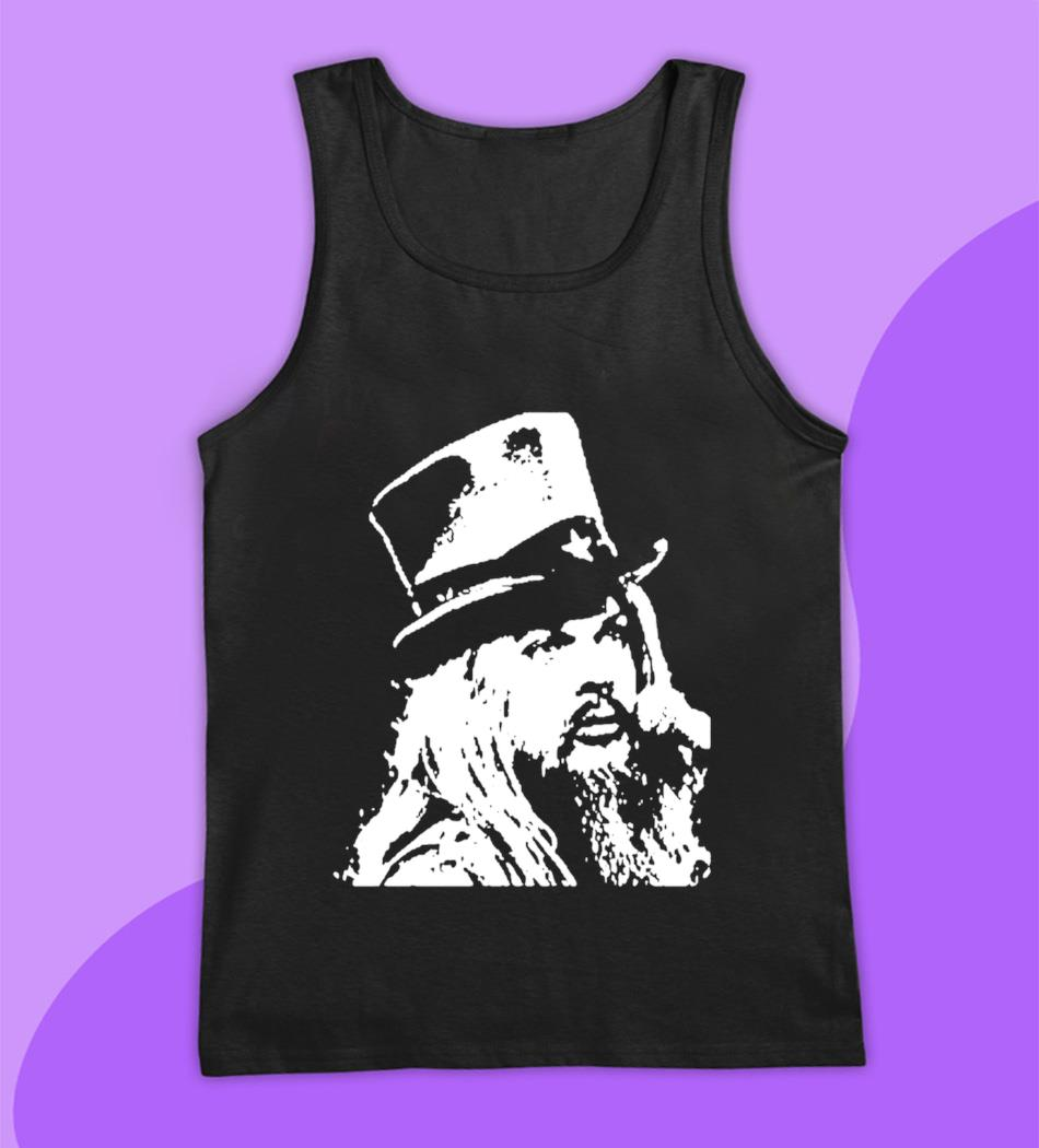 Leon Russell t shirt blues rock artist hand t-s tank top