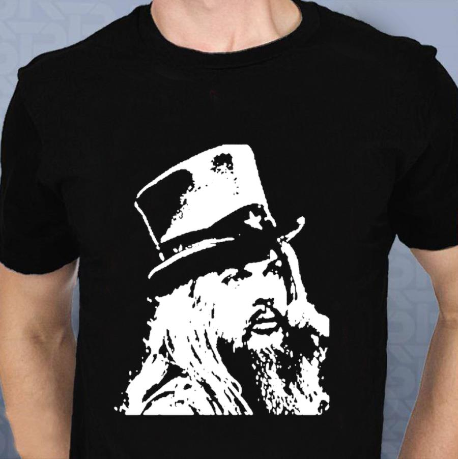 Leon Russell t shirt blues rock artist hand t-shirt