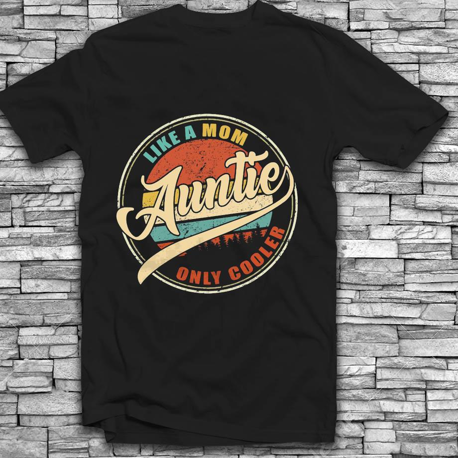 Like a mom auntie only cooler vintage t-s Black