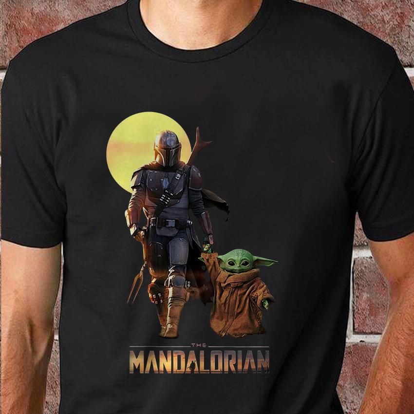 The Mandalorian Boba Fett and baby Yoda Star Wars t-shirt