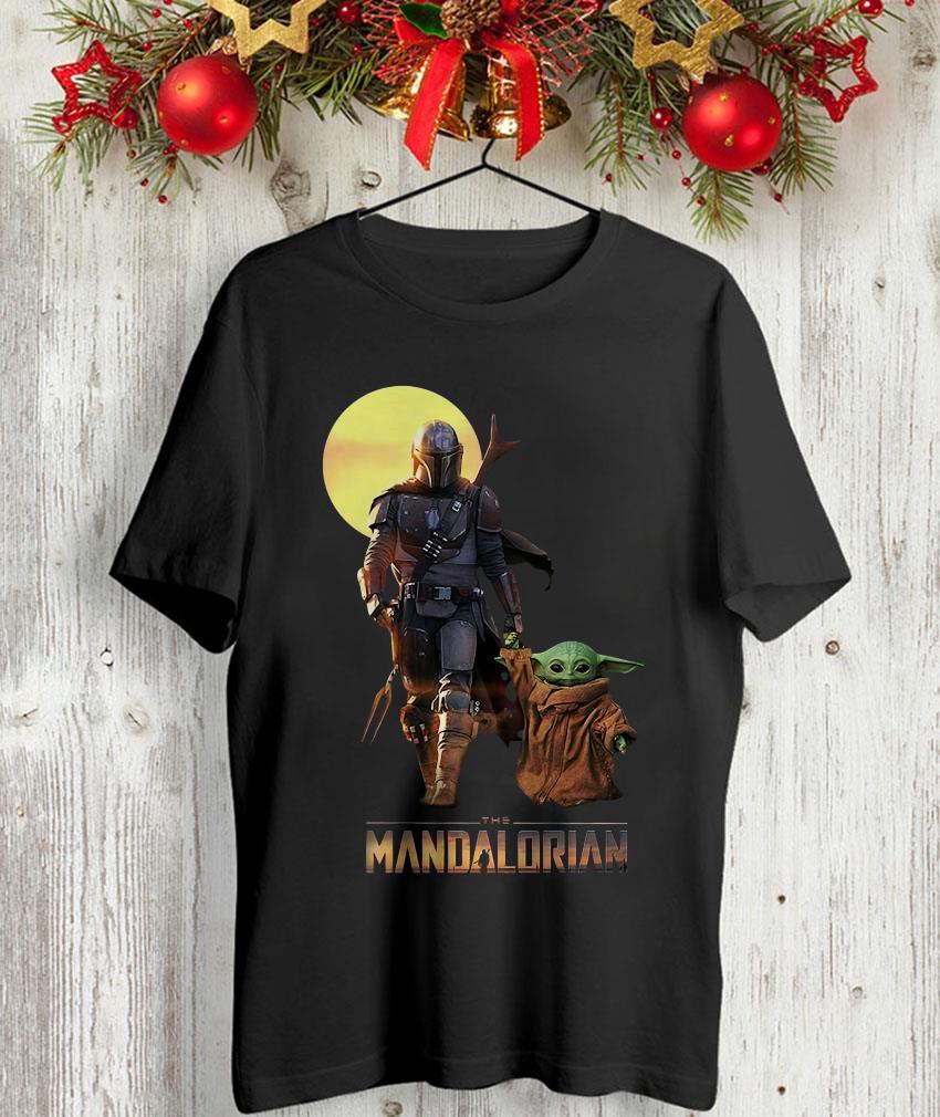 The Mandalorian Boba Fett and baby Yoda Star Wars unisex t-shirt