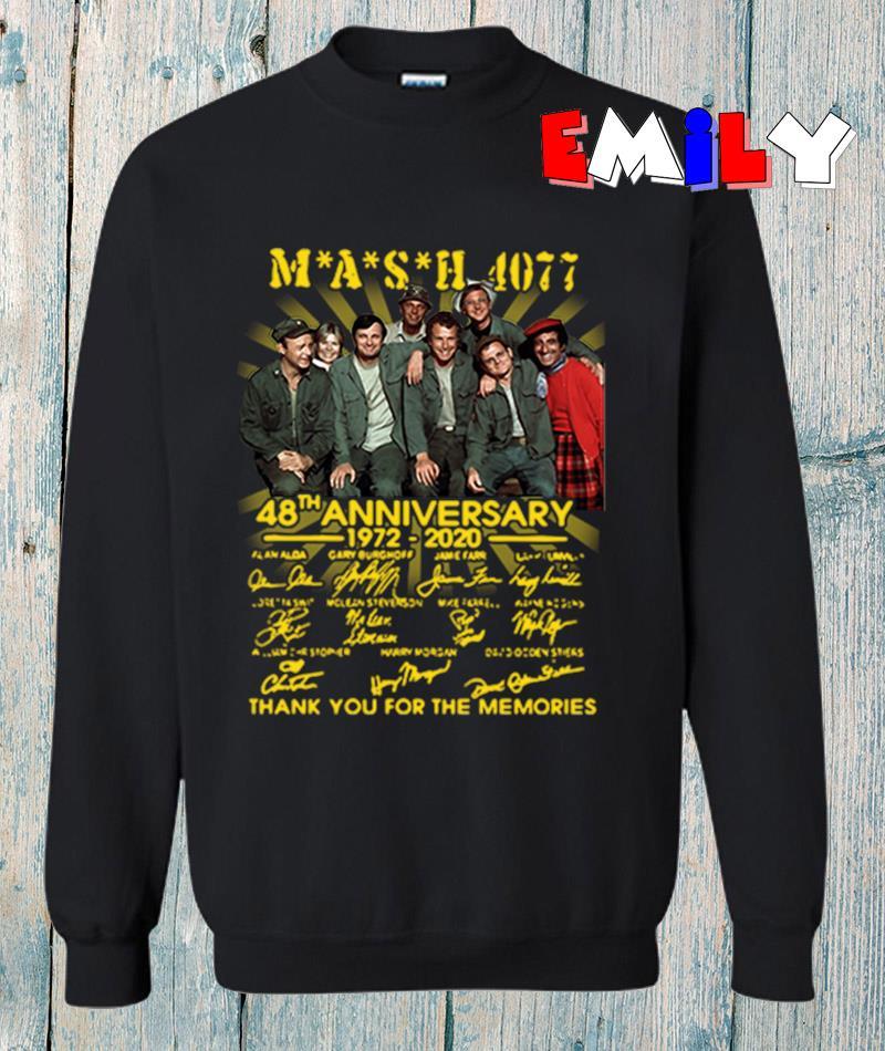 Mash 4077 48th anniversary 1972-2020 signatures sweatshirt