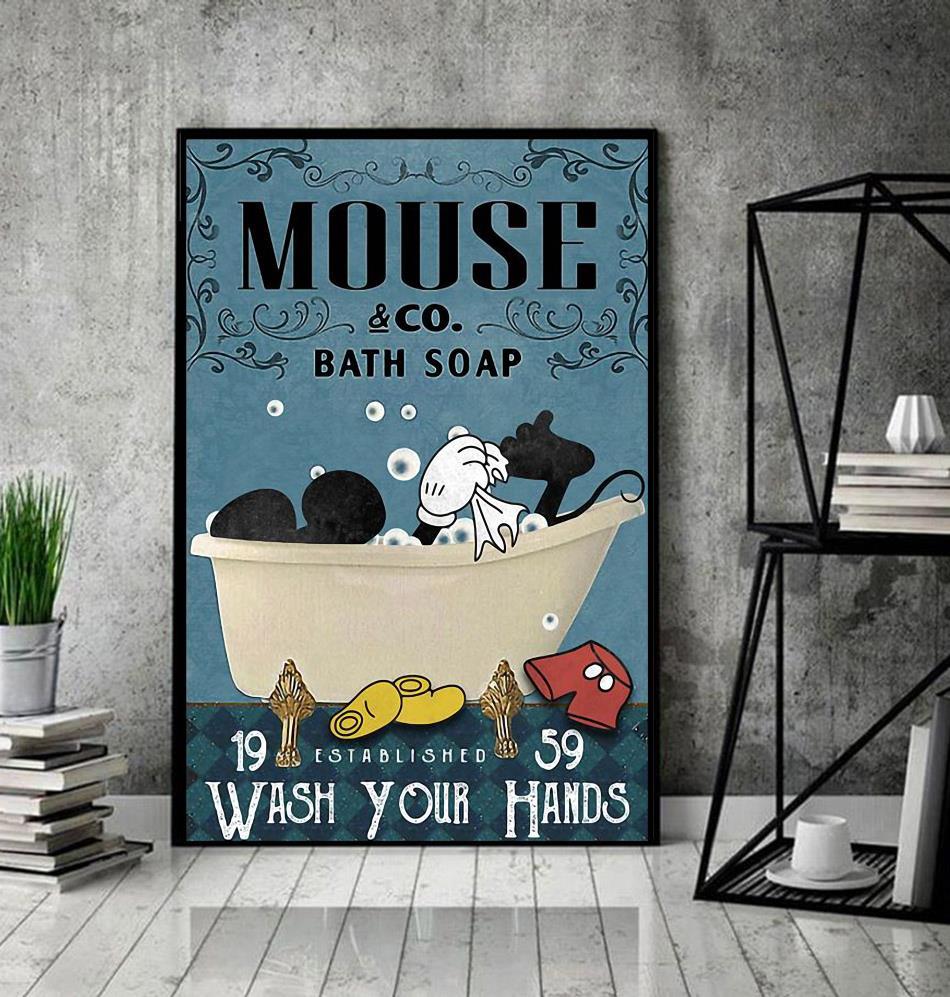 Mickey Disney bath soap wash your paws wrapped canvas decor