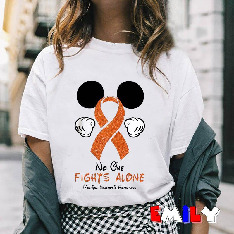 no one fights alone multiple sclerosis awareness