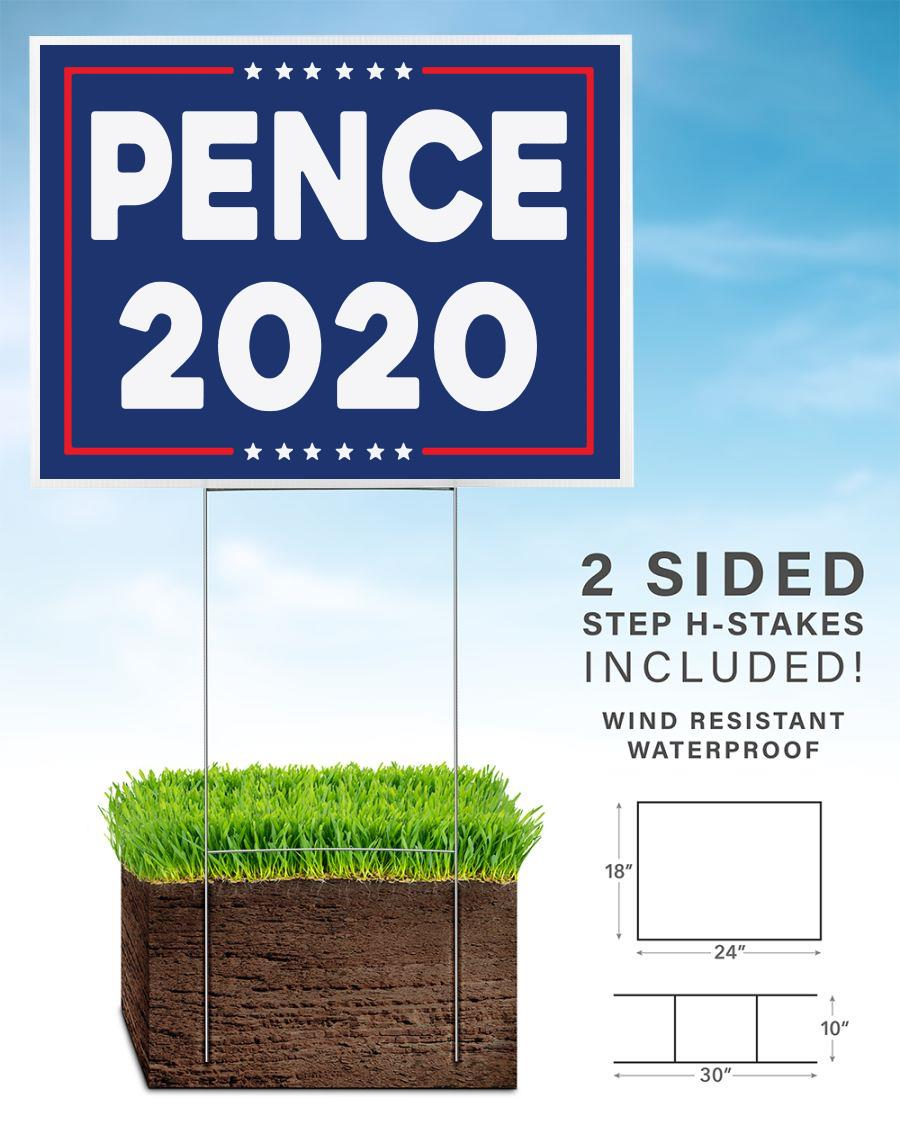 Pence 2020 campaign yard sign