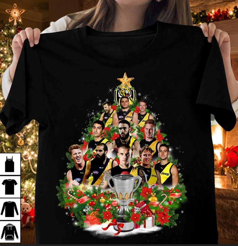 Richmond Tigers Christmas tree t-shirt
