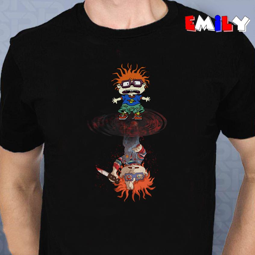 Rugrats scared Chuckie shadow unisex shirt