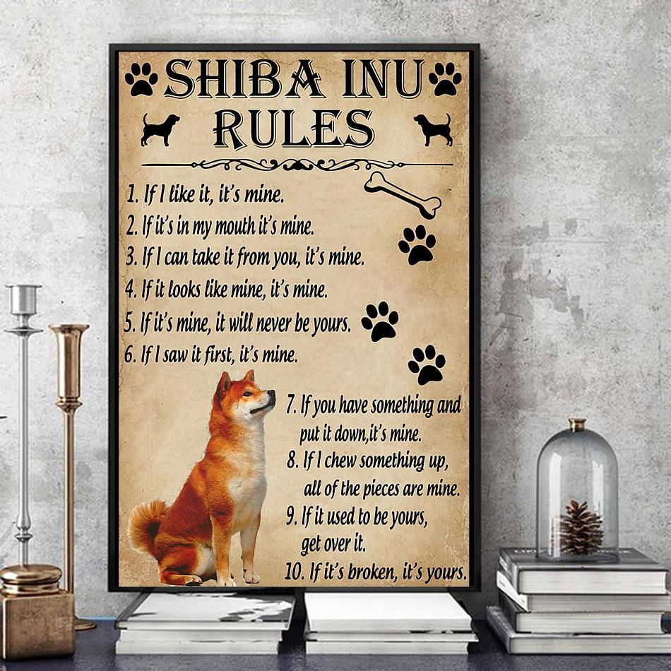 Shiba Inu rules poster canvas