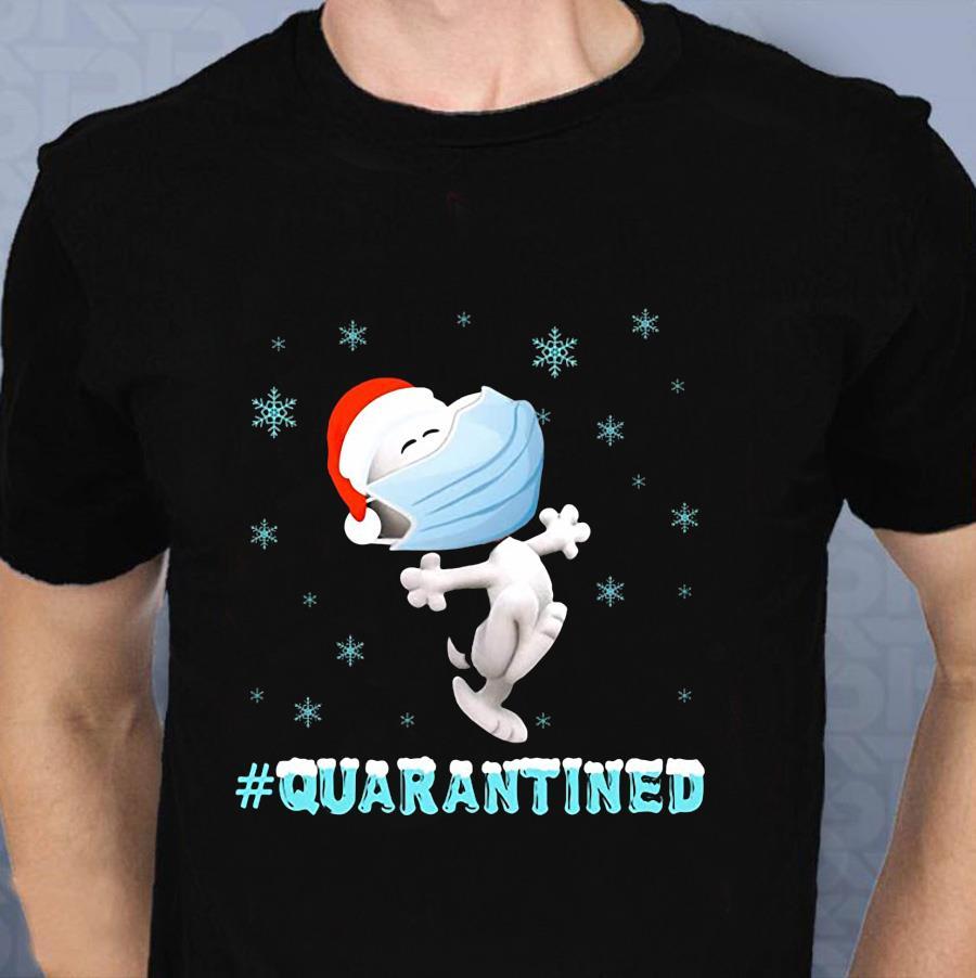 Snoopy santa quarantined Christmas t-shirt