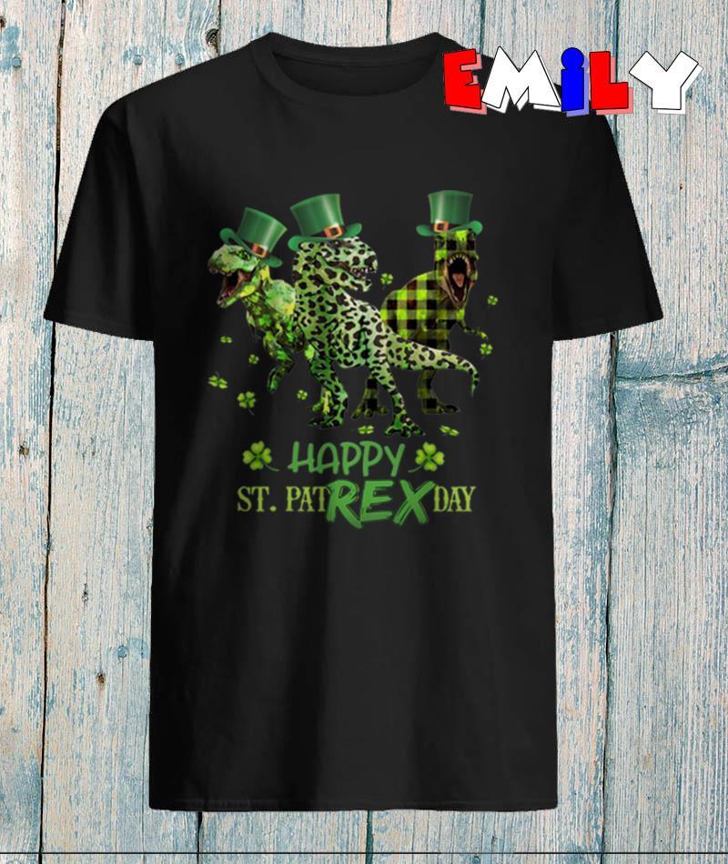 T-Rex happy St PatRex day shamrock t-shirt