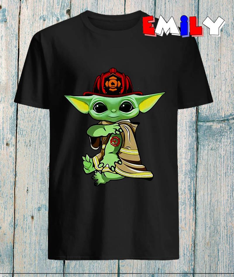 The Mandalorian Baby Yoda fireman tattoo