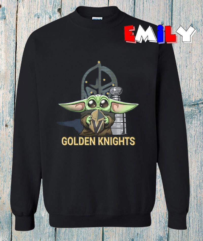 The Mandalorian Baby Yoda hug Vegas Golden Knights sweatshirt