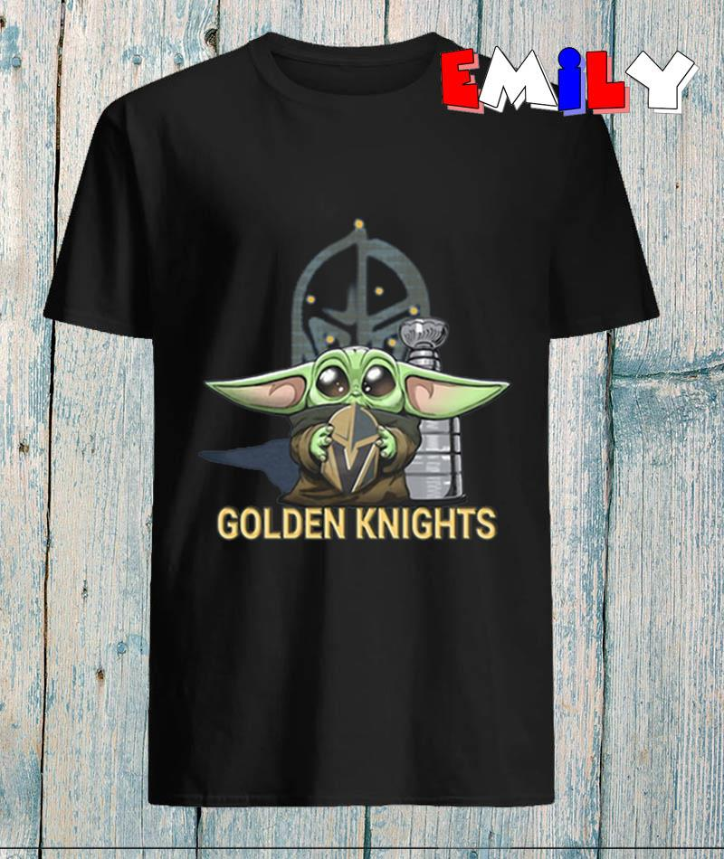 The Mandalorian Baby Yoda hug Vegas Golden Knights