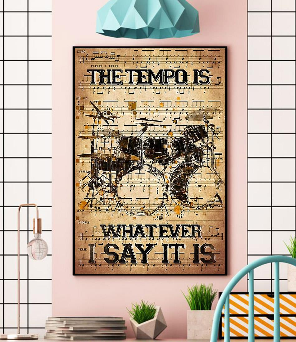 The tempo is whatever i say it is dictionary drumner canvas wall