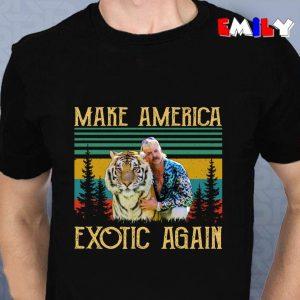Vintage retro Joe Exotic make America Exotic again unisex t-shirt