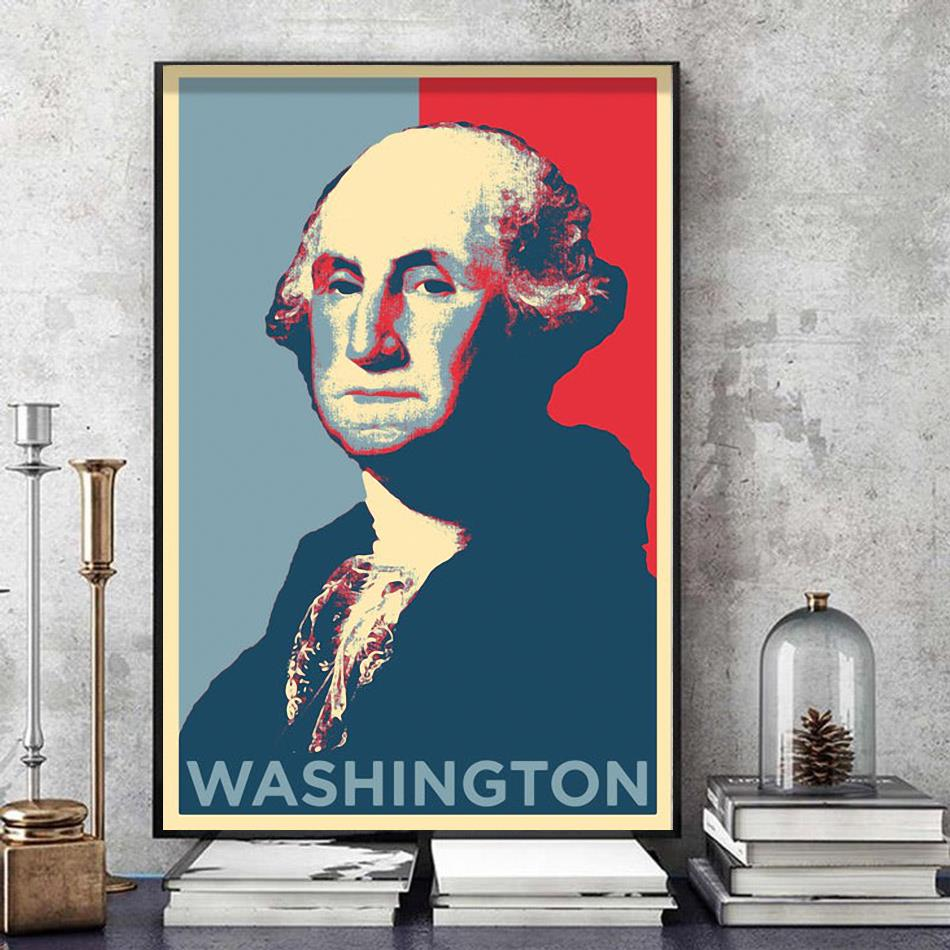 Washington president original art poster art