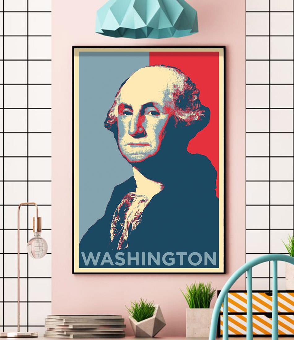 Washington president original art poster wall