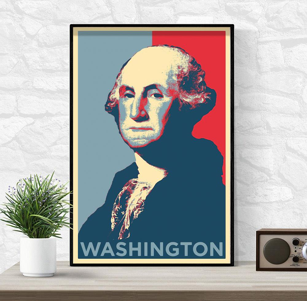 Washington president original art poster