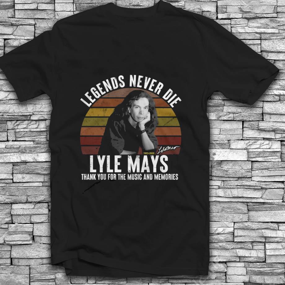 Lyle Mays 1953-2020 legends never die vintage Black